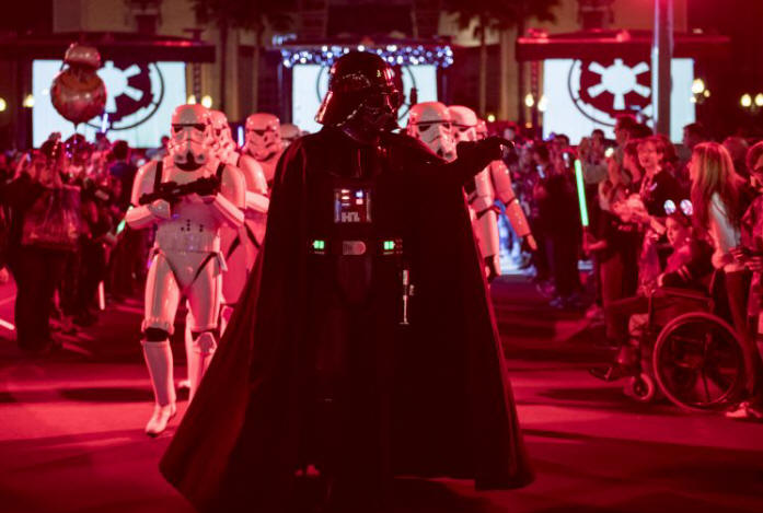 Tickets are now on sale for the return of Star Wars: Galactic Nights at DisneyÕs Hollywood Studios May 27, 2018. The one-night event celebrates the entire Star Wars saga with exclusive, out-of-this-world entertainment, encounters with Star Wars characters, a panel discussion with creators of Star Wars: GalaxyÕs Edge Ð a new land coming to the theme park in 2019, special photo opportunities, event-exclusive merchandise, specialty food & beverage and much more. Disney's Hollywood Studios is located at Walt Disney World Resort in Florida. (David Roark, photographer)