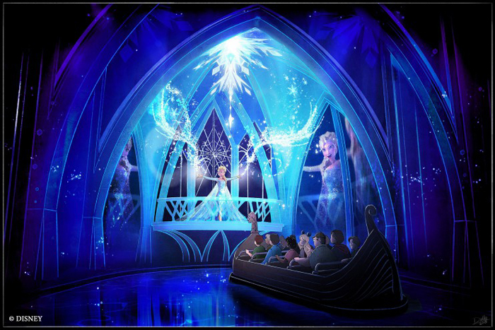"The ""Frozen Ever After"" attraction coming to Epcot in 2016 is an adventure fit for the entire family that will take guests through the kingdom of Arendelle. Guests will be transported to the Winter in Summer Celebration where Queen Elsa embraces her magical powers and creates a winter-in-summer day for the entire kingdom. ""Frozen Ever After"" will be located in the Norway Pavilion at Epcot, which is one of four theme parks at Walt Disney World Resort in Lake Buena Vista, Fla. (Disney)"