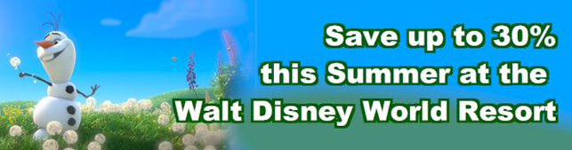 Save Up To 30% Off Select Walt Disney World Resort Hotels withg this Coolest Summer Ever Special