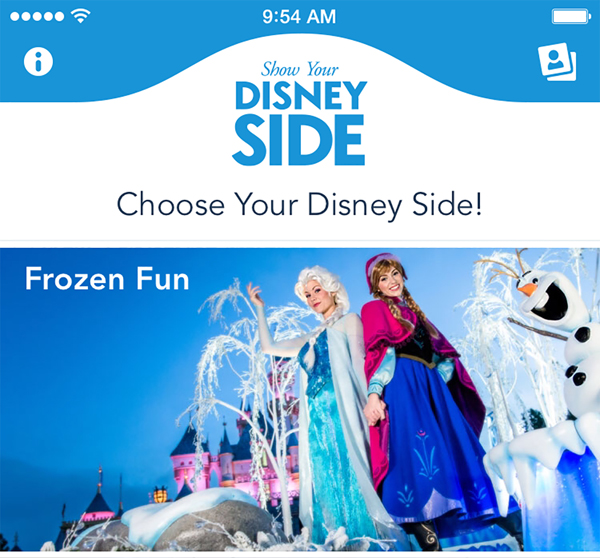 how Your Disney Side, a new photo transformation app, allows Disney Parks fans to magically transform into their favorite Disney Parks characters