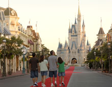 For the first time in history, a family had Walt Disney World's Magic Kingdom® Park all to themselves.