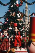 "HOLLY JOLLY HOLIDAYS: Larger-than-life tin soldiers in ""Mickey's Once Upon a Christmastime Parade"" and ""Florida Snow"" combine with sparkling lights and holiday décor during Mickey's Very Merry Christmas Party at the Walt Disney World Resort"